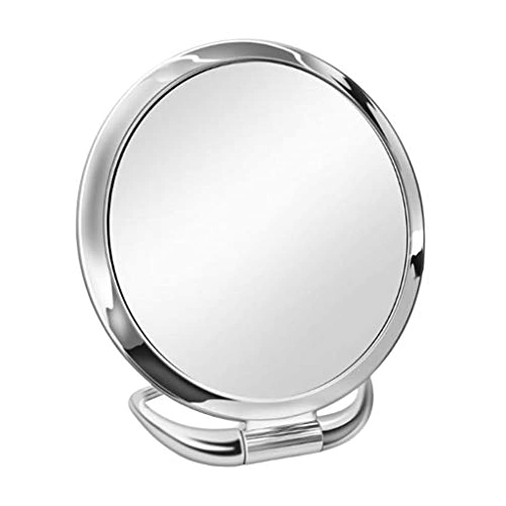 縁男性ブリードInjoyo 卓上ミラー 化粧鏡 1倍/3倍拡大鏡 両面化粧鏡 メイクミラー 女優ミラー スタンドミラー 卓上鏡 全6種 - スライバーラウンド