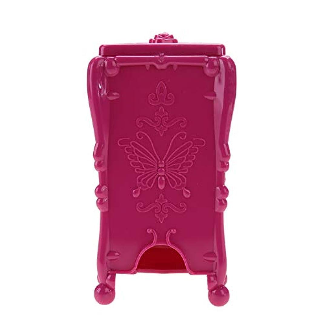 出口ほとんどない箱ネイルツール 収納ボックス ネイルアートワイプオーガナイザー 化粧コットン(02#)