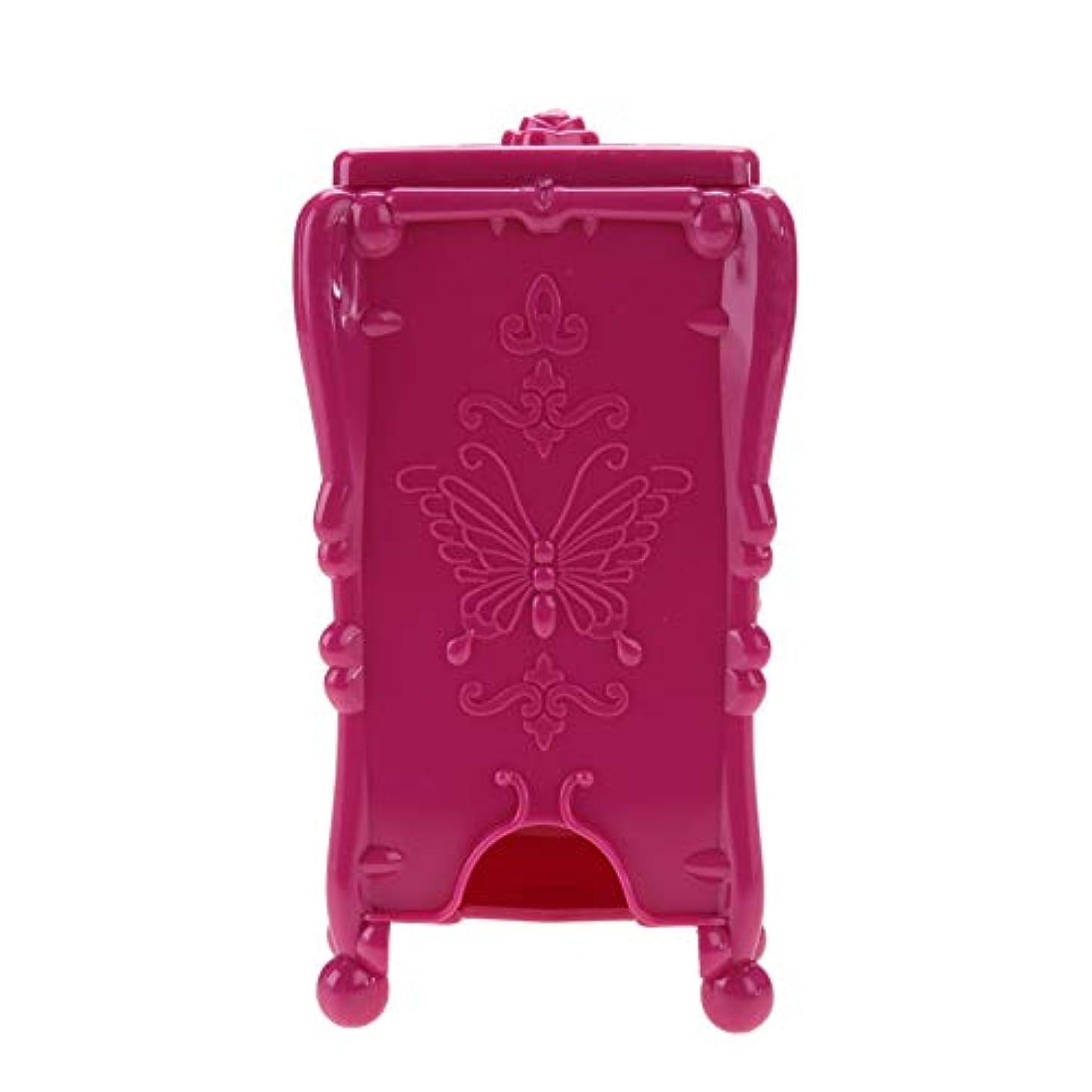 高潔なあまりにも仮称ネイルツール 収納ボックス ネイルアートワイプオーガナイザー 化粧コットン(02#)