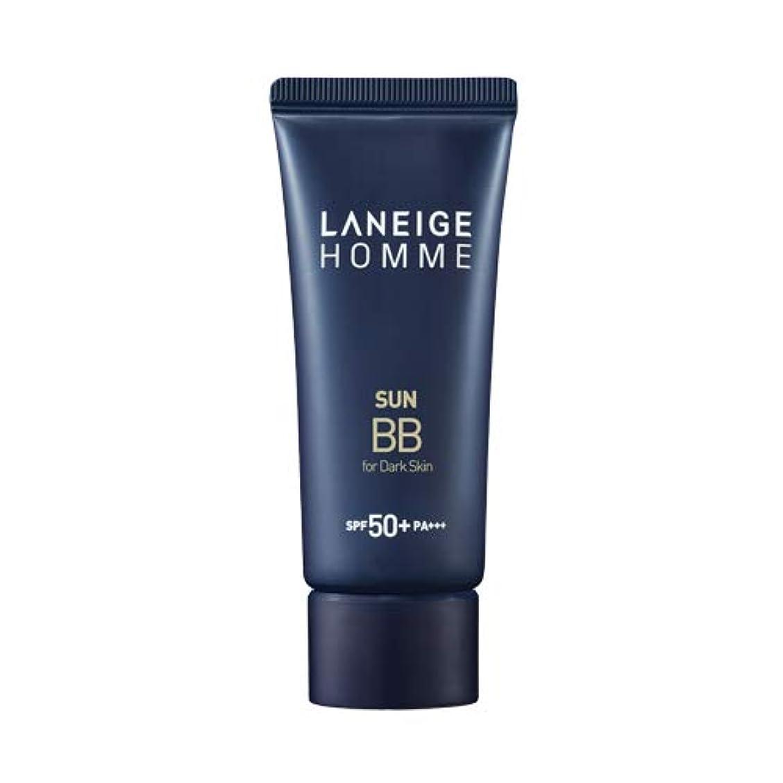 特徴づける人生を作るごちそうLANEIGE HOMME Sun BBブライトスキン/ダークスキンSPF50 + PA +++用(男性用)韓国の人気男性BBクリーム紫外線遮断スキンケア老化防止ローションの代わりに使用可能な水分 (黒い肌dark skin)