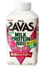 明治 ザバスミルク脂肪0 クリアストロベリー430ml×20本