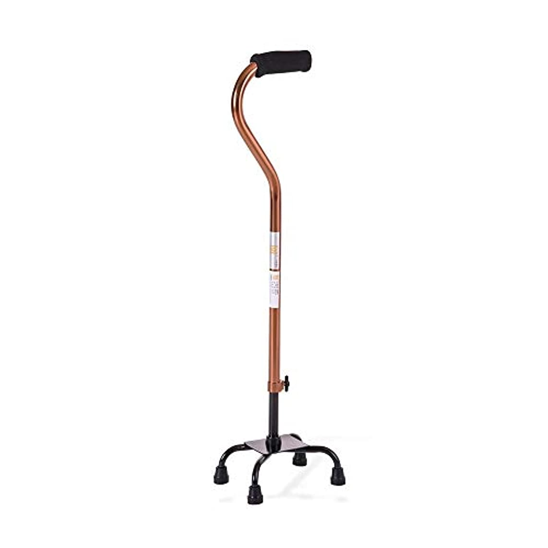 エクストラストロングベース付きの調整可能な4本脚の杖