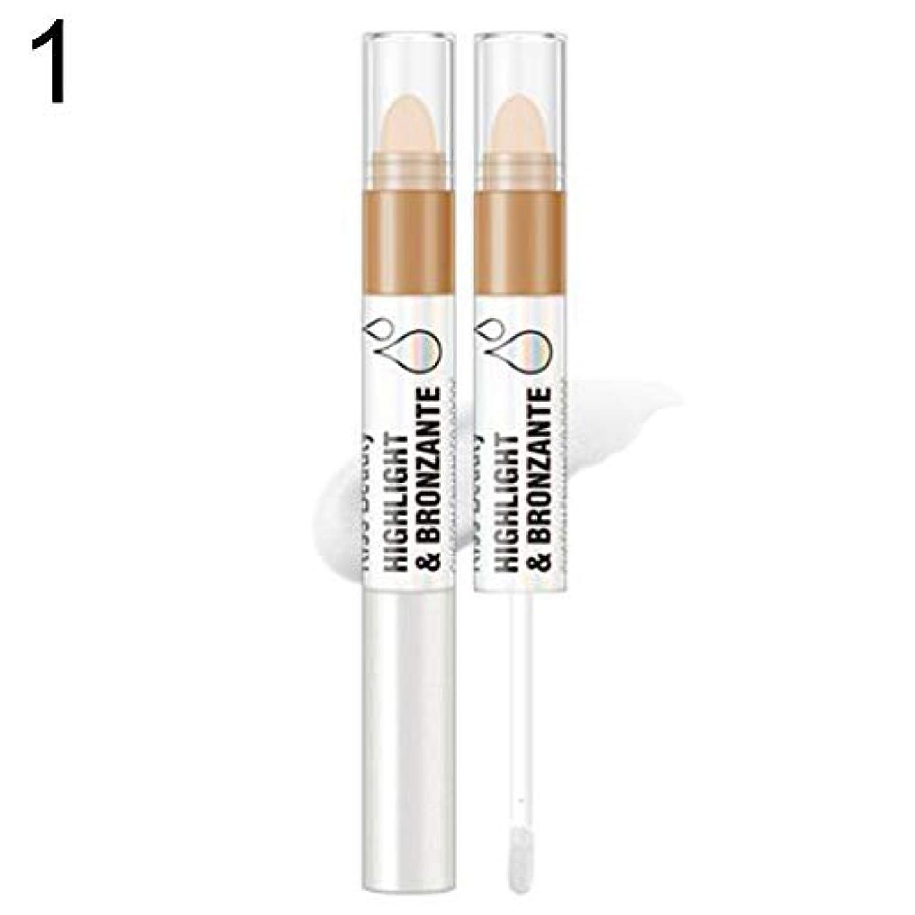 プレビスサイト褐色にぎやかKissbeauty液体蛍光ペンフェイスグロープライマーオイルコントロールコンターブライトナー - 1