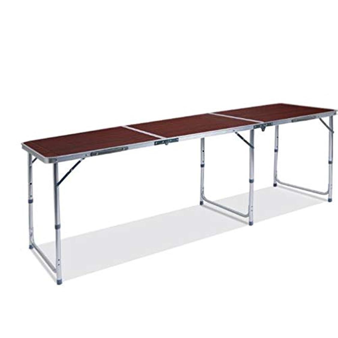 連合北東カビ折りたたみピクニックテーブルの高さ調節可能6椅子ポータブル用屋外キャンプパーティーピクニックガーデンダイニング, Bronze