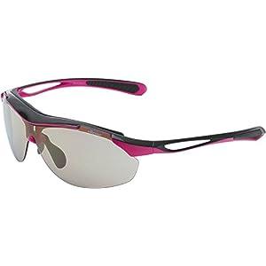 ellesse(エレッセ) 度付き対応 スポーツサングラス レディース ES-S107 ブラック/ピンク