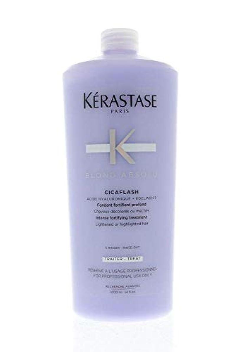 クックスピーチそこケラスターゼ Blond Absolu Cicaflash Intense Fortifying Treatment (Lightened or Highlighted Hair) 1000ml/34oz並行輸入品