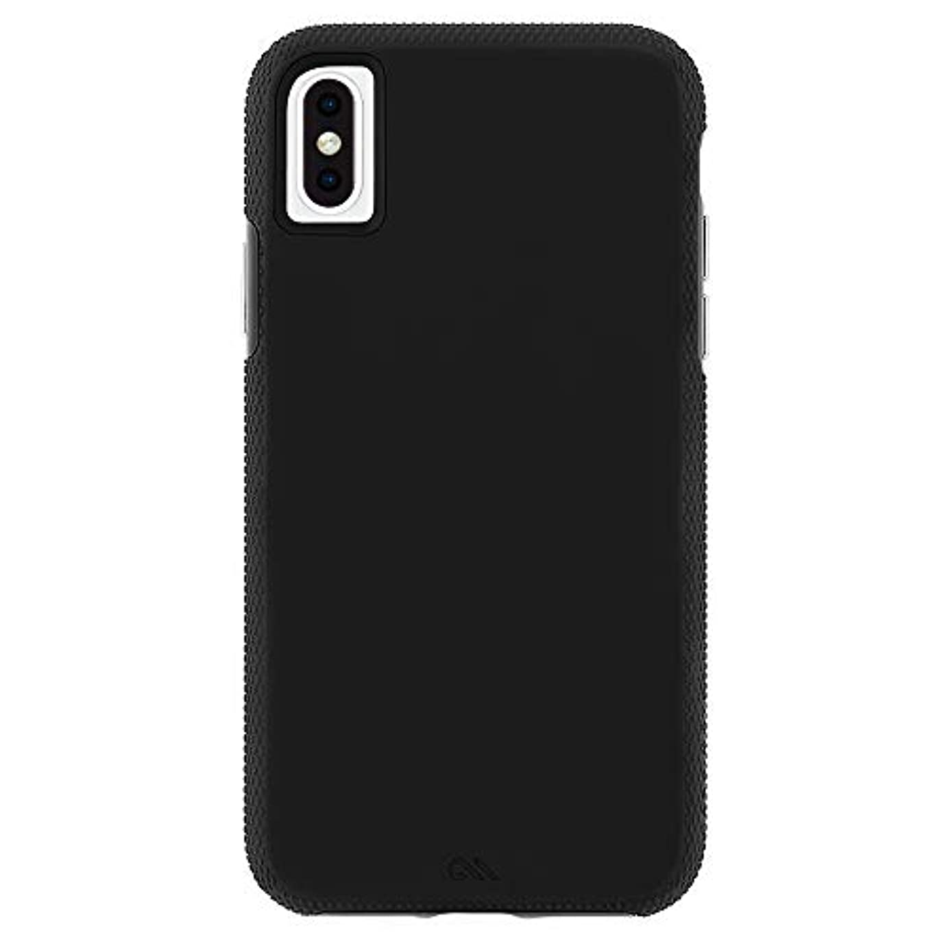 尋ねる癒すコンペCase-Mate iPhone XS Max Tough Grip ワイヤレス充電対応ケース 耐衝撃 頑丈 握りやすいグッドデザイン - Black/Black アイフォン 10MAX タフグリップ ブラック/ブラック