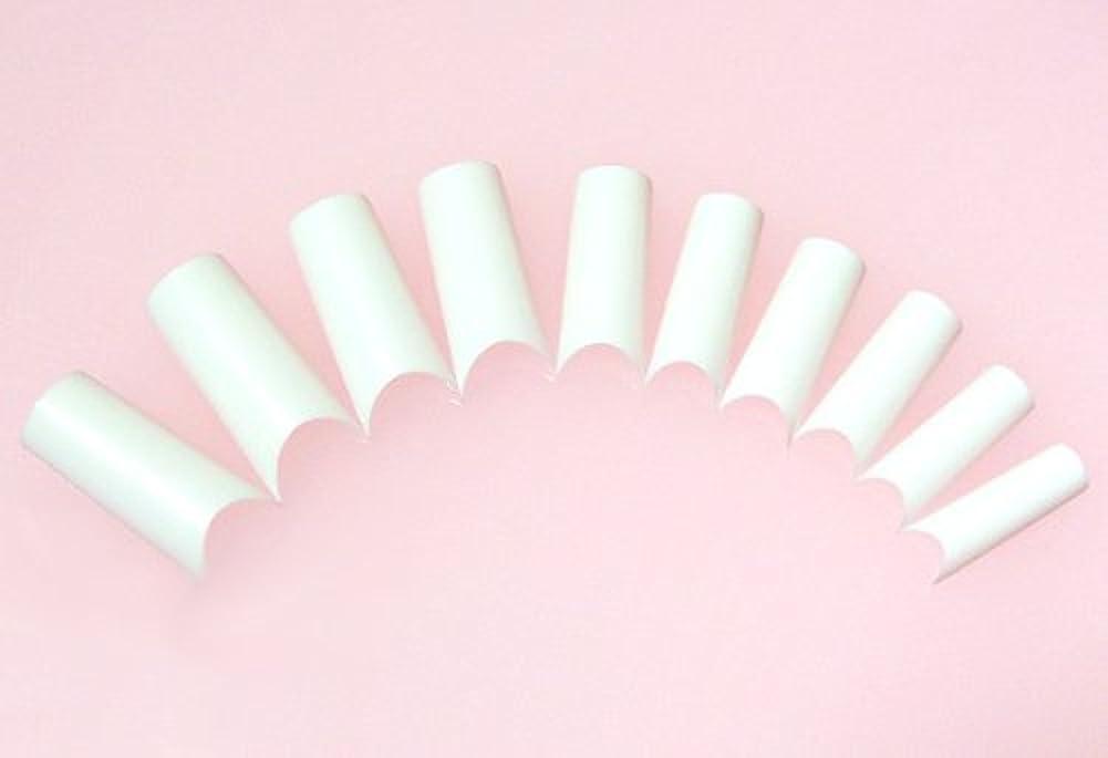 かける証拠ブレイズネイルチップ フレンチホワイト ハーフタイプ 500枚 [#2]スカルプチュア つけ爪付け爪