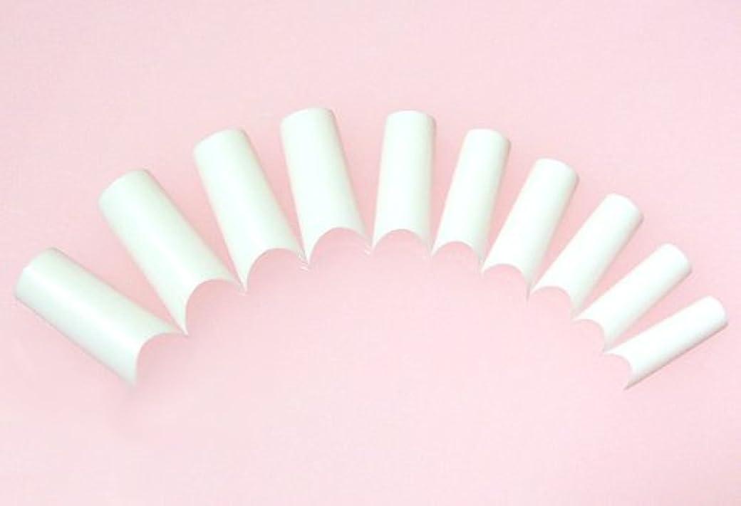 あるヘア悪化するネイルチップ フレンチホワイト ハーフタイプ 500枚 [#2]スカルプチュア つけ爪付け爪