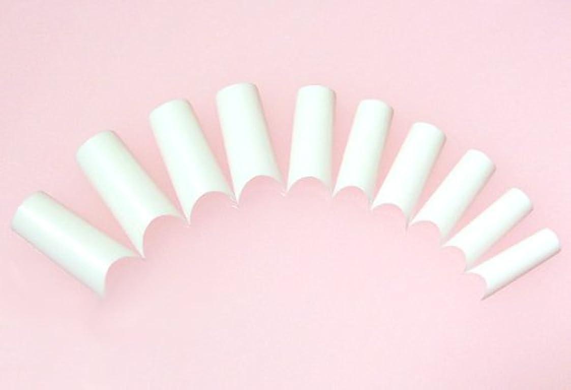 くさびマインド貸すネイルチップ フレンチホワイト ハーフタイプ 500枚 [#2]スカルプチュア つけ爪付け爪