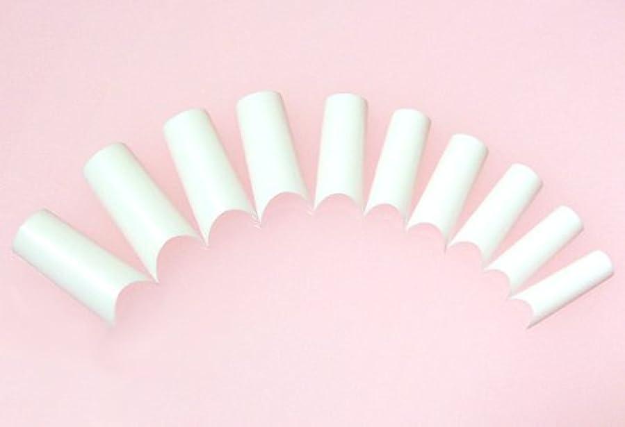 報復する裏切り重荷ネイルチップ フレンチホワイト ハーフタイプ 500枚 [#2]スカルプチュア つけ爪付け爪