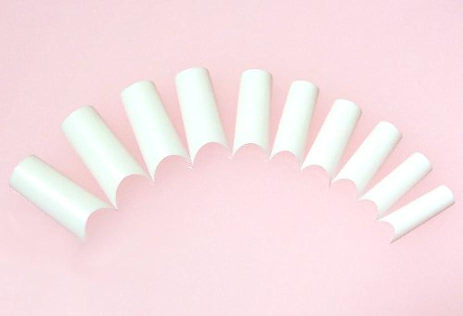 偉業フルーツ噴出するネイルチップ フレンチホワイト ハーフタイプ 500枚 [#2]スカルプチュア つけ爪付け爪