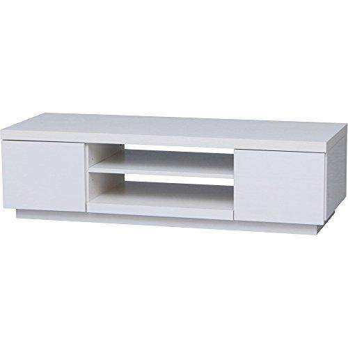アイリスオーヤマ テレビ台 薄型 ローボード ボックス 幅100×奥行38.8×高さ28.2cm オフホワイト BAB-100