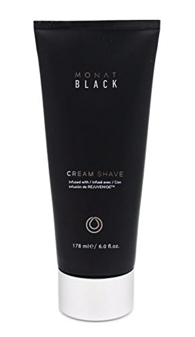 不測の事態直面する突き出すMonat Mens Black Cream Shave [並行輸入品]