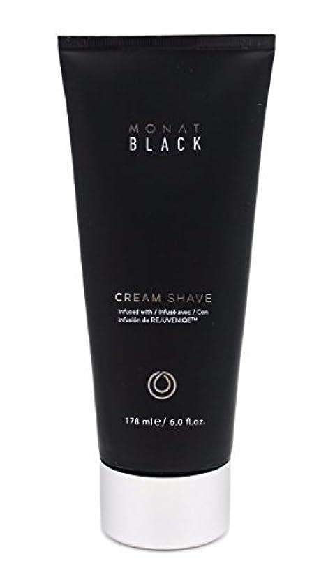 ブレーキ苗野望Monat Mens Black Cream Shave [並行輸入品]