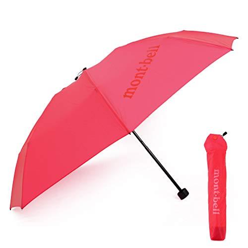[モンベル] mont-bell 傘 6色 折りたたみ傘 エアライトナイロン トレッキングアンブレラ 10デニール 折り畳み傘 8本骨 アウトドア 雨傘 雨具 1128551 (02 カメリア)