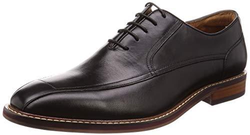 [フォクスセンス] ビジネスシューズ 紳士靴 メンズ 革靴 スワールモカ サドルシューズ 本革 ブラック 25.5cm 6787-11