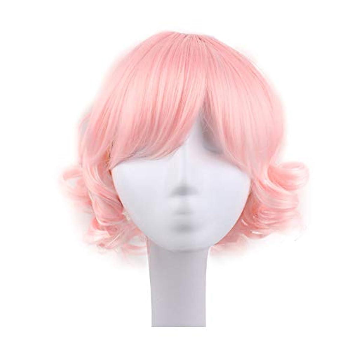 粘液ラウンジまたねブロンドのかつら女性のための短い巻き毛のかつら髪のかつらリアルウィッグとして自然な日々のパーティーコスプレ衣装かつらかつらキャップ付きかつら