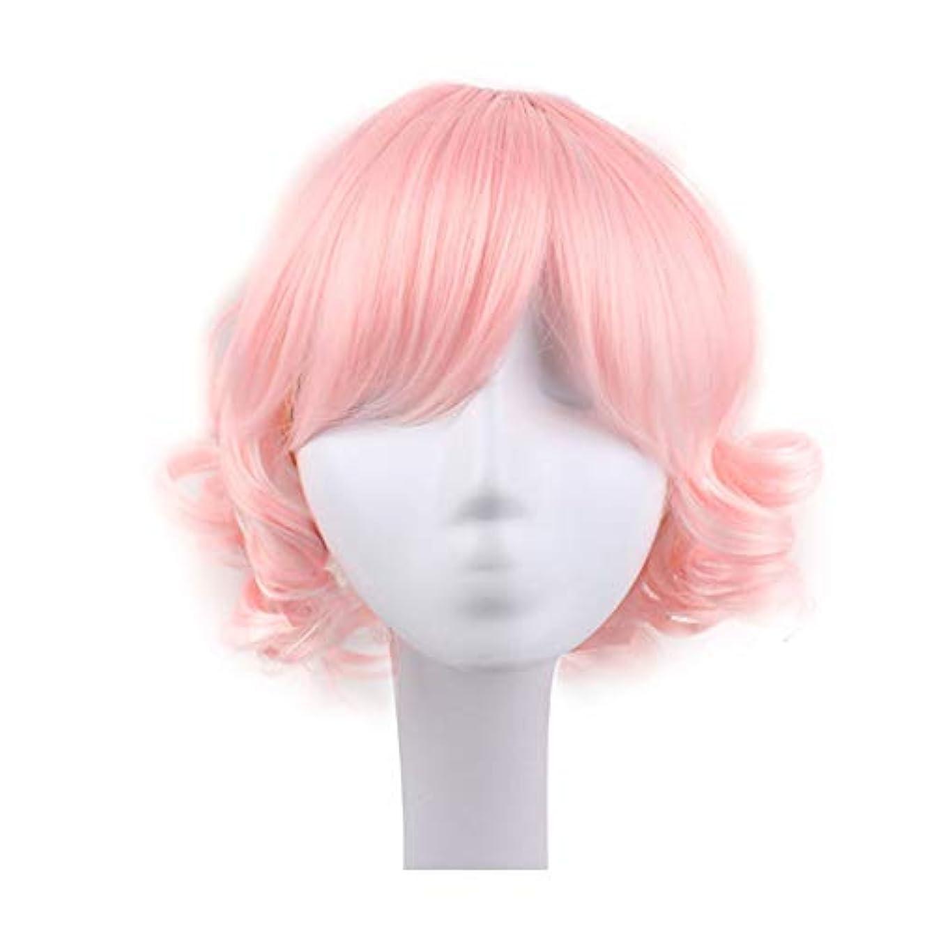 信号心理学有毒ブロンドのかつら女性のための短い巻き毛のかつら髪のかつらリアルウィッグとして自然な日々のパーティーコスプレ衣装かつらかつらキャップ付きかつら