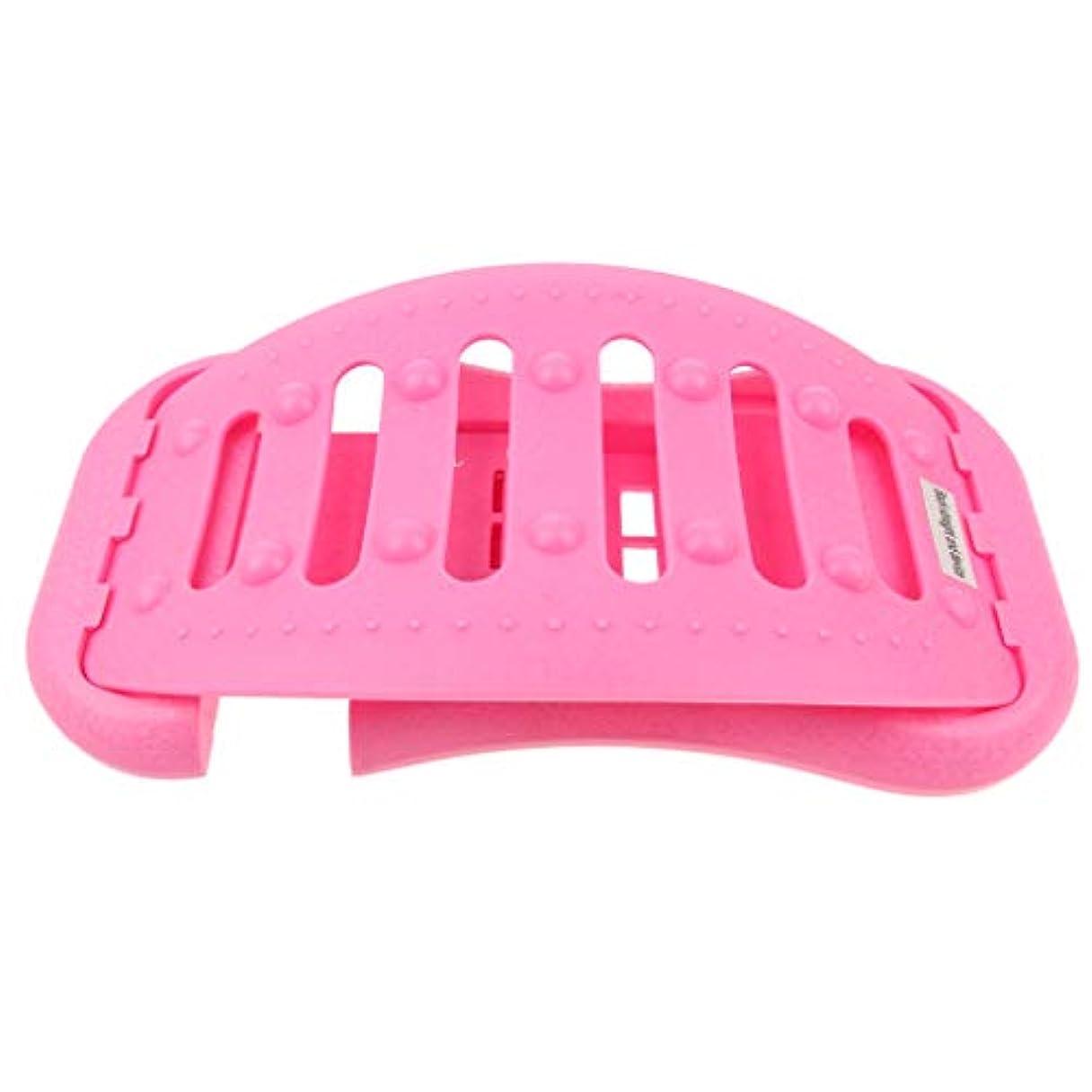 汚す同僚ペナルティ調節可能 バック ストレッチャー 背中 ストレッチャー ストレッチ装置 耐久性ある 全2色 - ピンク