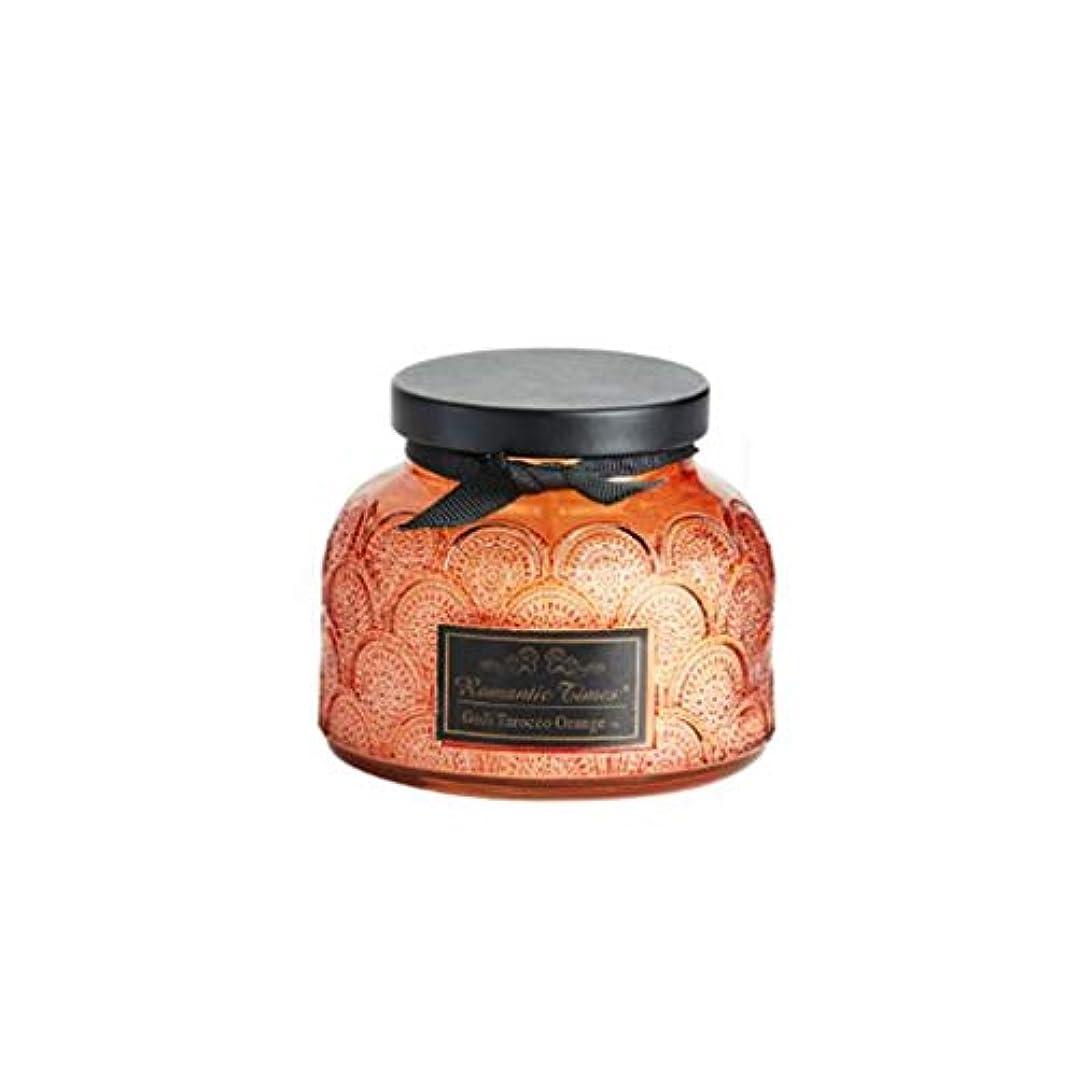 キャンドル、レースカップエッセンシャルオイルスクラブガラスアロマキャンドル、ロマンチックな香りキャンドルクリエイティブなだめるような睡眠ポータブル旅行アロマセラピーキャンドル (Color : Orange)