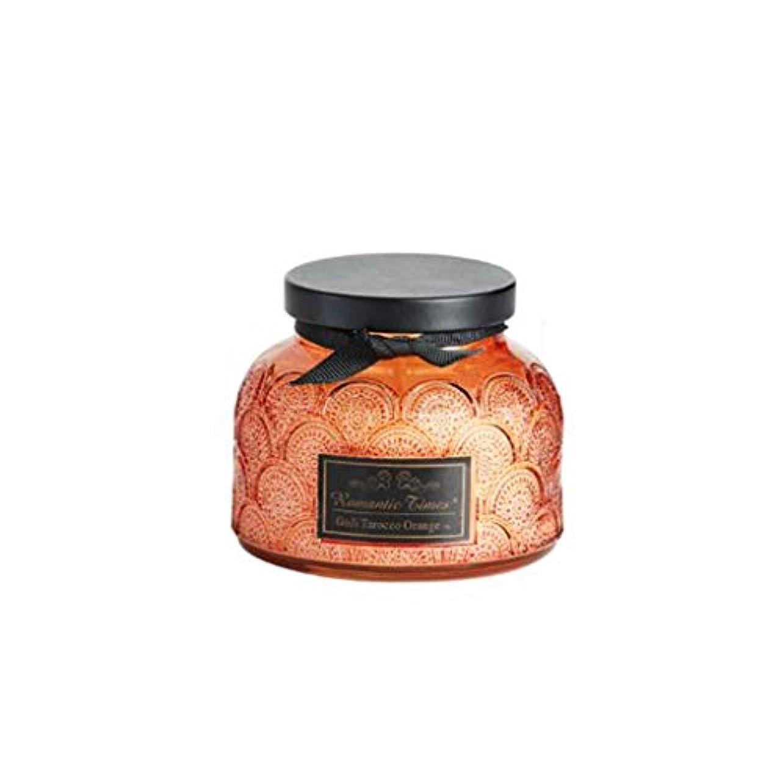 歌詞十代ボットキャンドル、レースカップエッセンシャルオイルスクラブガラスアロマキャンドル、ロマンチックな香りキャンドルクリエイティブなだめるような睡眠ポータブル旅行アロマセラピーキャンドル (Color : Orange)
