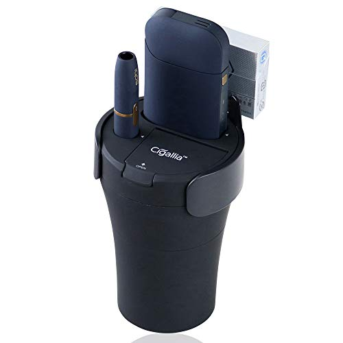 Cigallia アイコス 充電器 ホルダー チャージャー 2本同時充電 灰皿 ヒートスティックホル...
