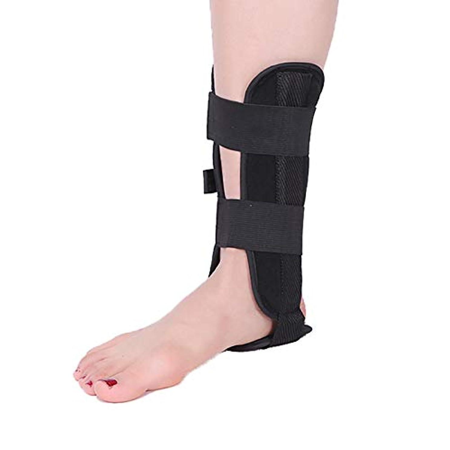 レンダリング適切に再発する足首サポートストラップブレース、調節可能なドロップフットオルソ、OKクロスナイロンクラスププレート換気姿勢補正器,L