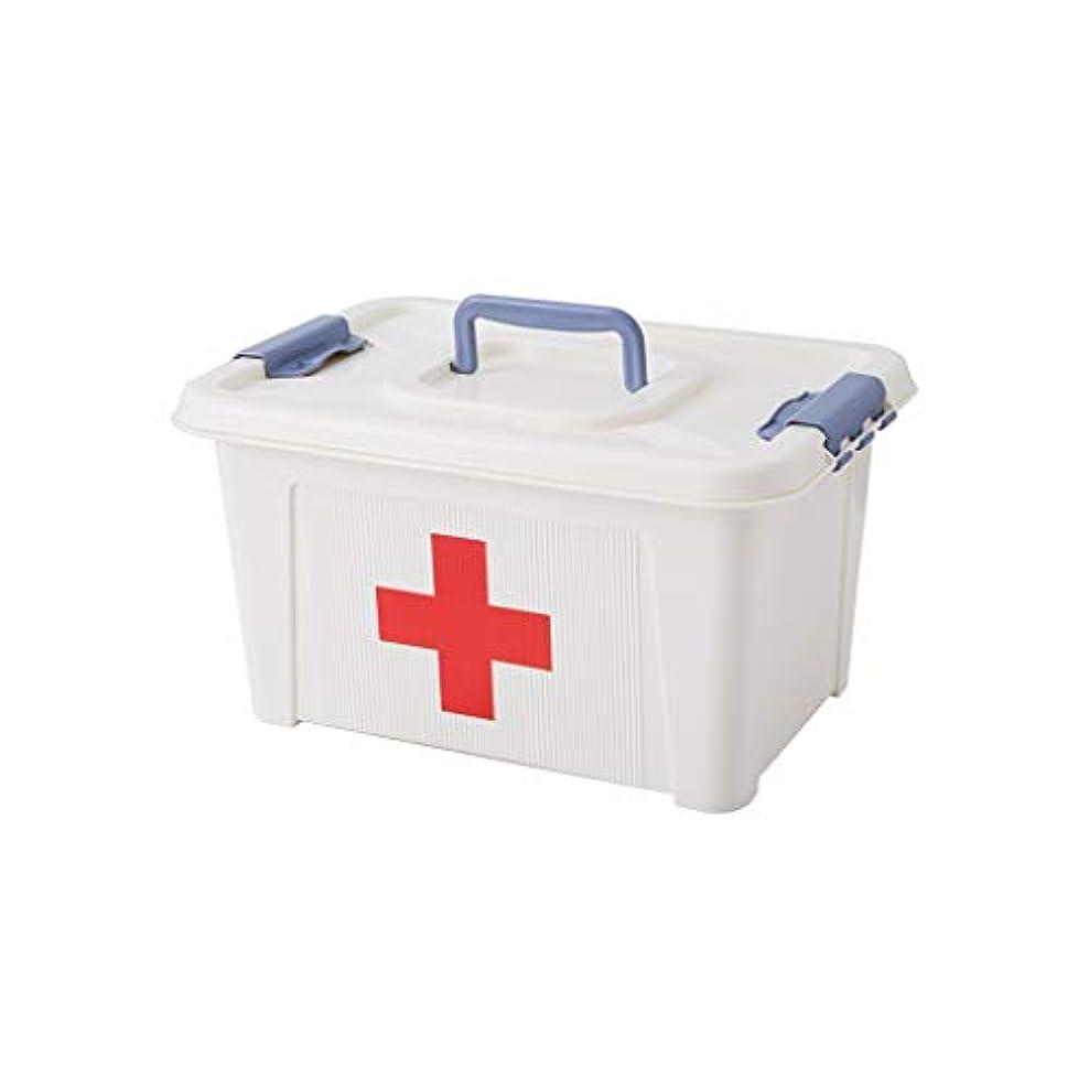 売り手データ短くする家庭用薬箱プラスチック医療箱薬収納ボックスポータブル救急箱 で利用可能 GBYGDQ (Size : 35×25×19cm)
