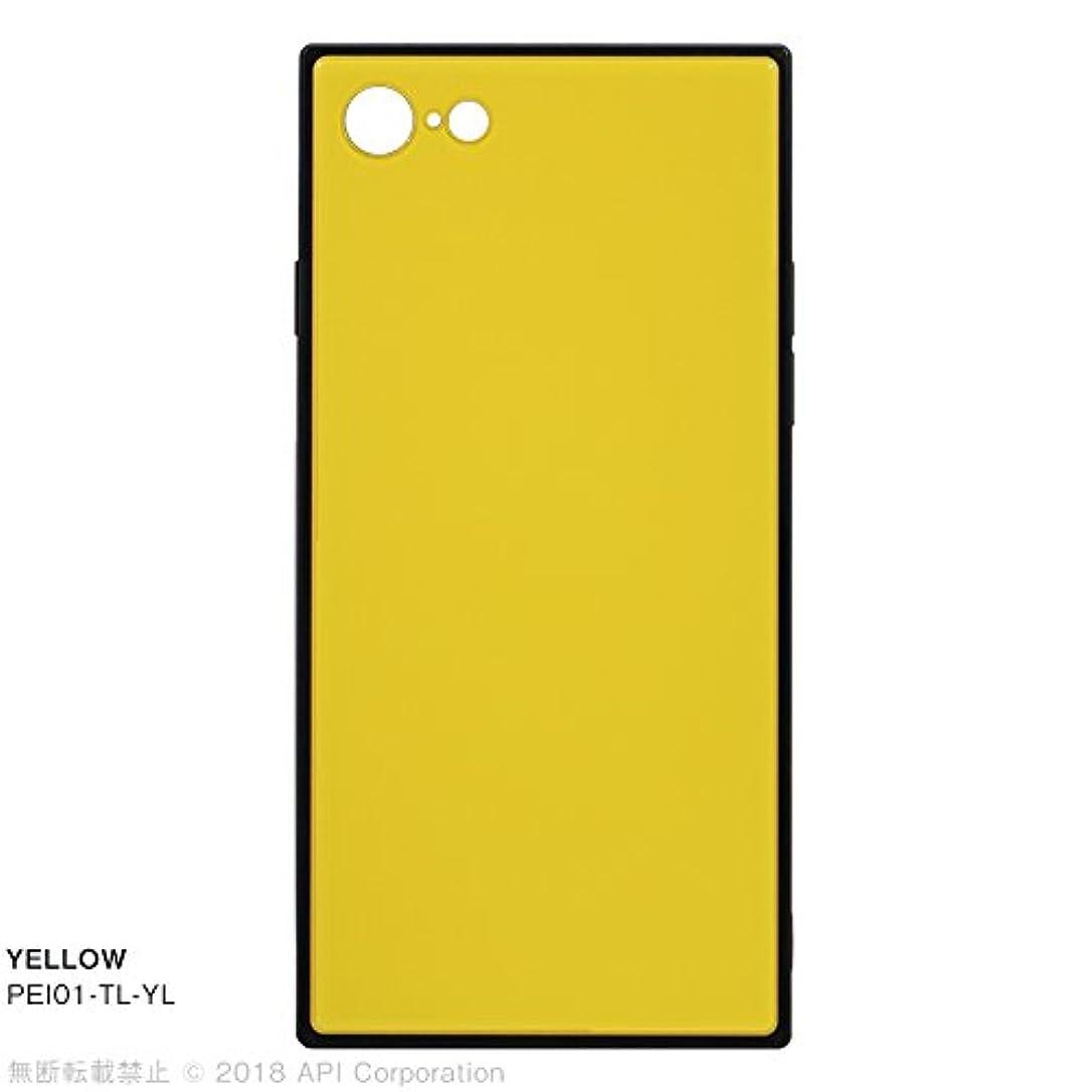 よく話される立ち向かう大きなスケールで見るとアピロス iPhone 8/7用ケース TILE スクエア型(イエロー) EYLE PEI01-TL-YL