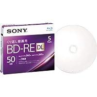(まとめ)ソニー 録画用BD-RE DL 260分1-2倍速 ホワイトワイドプリンタブル 5mmスリムケース 5BNE2VJPS2 1パック(5枚) 【×2セット】 ds-2124156