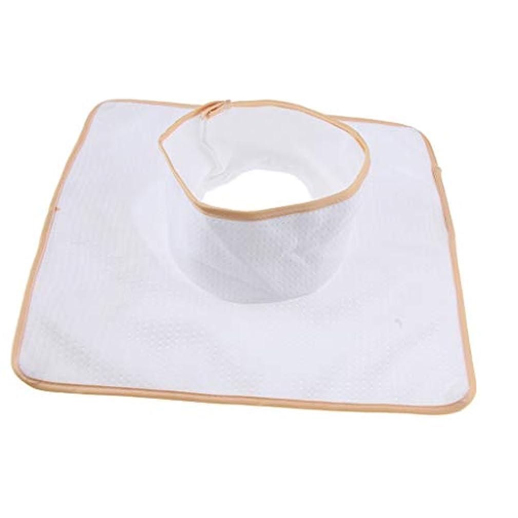忘れっぽいバルブ大学マッサージベッド サロンテーブル シート パッド 頭の穴 洗濯可能 約35×35cm 全3色 - 白