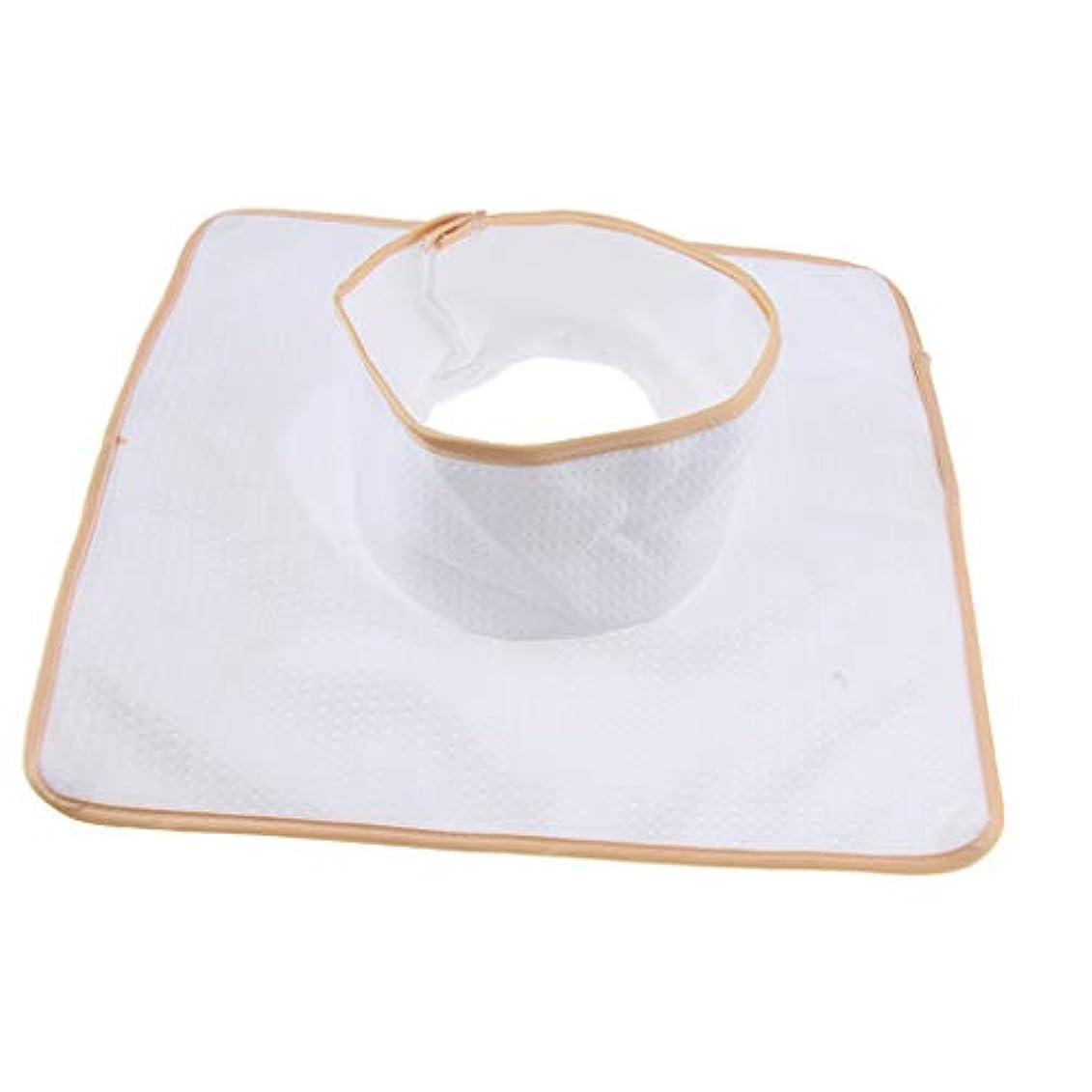 スラム街絶縁するつかむFLAMEER マッサージベッド サロンテーブル シート パッド 頭の穴 洗濯可能 約35×35cm 全3色 - 白