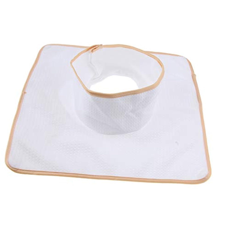 FLAMEER マッサージベッド サロンテーブル シート パッド 頭の穴 洗濯可能 約35×35cm 全3色 - 白