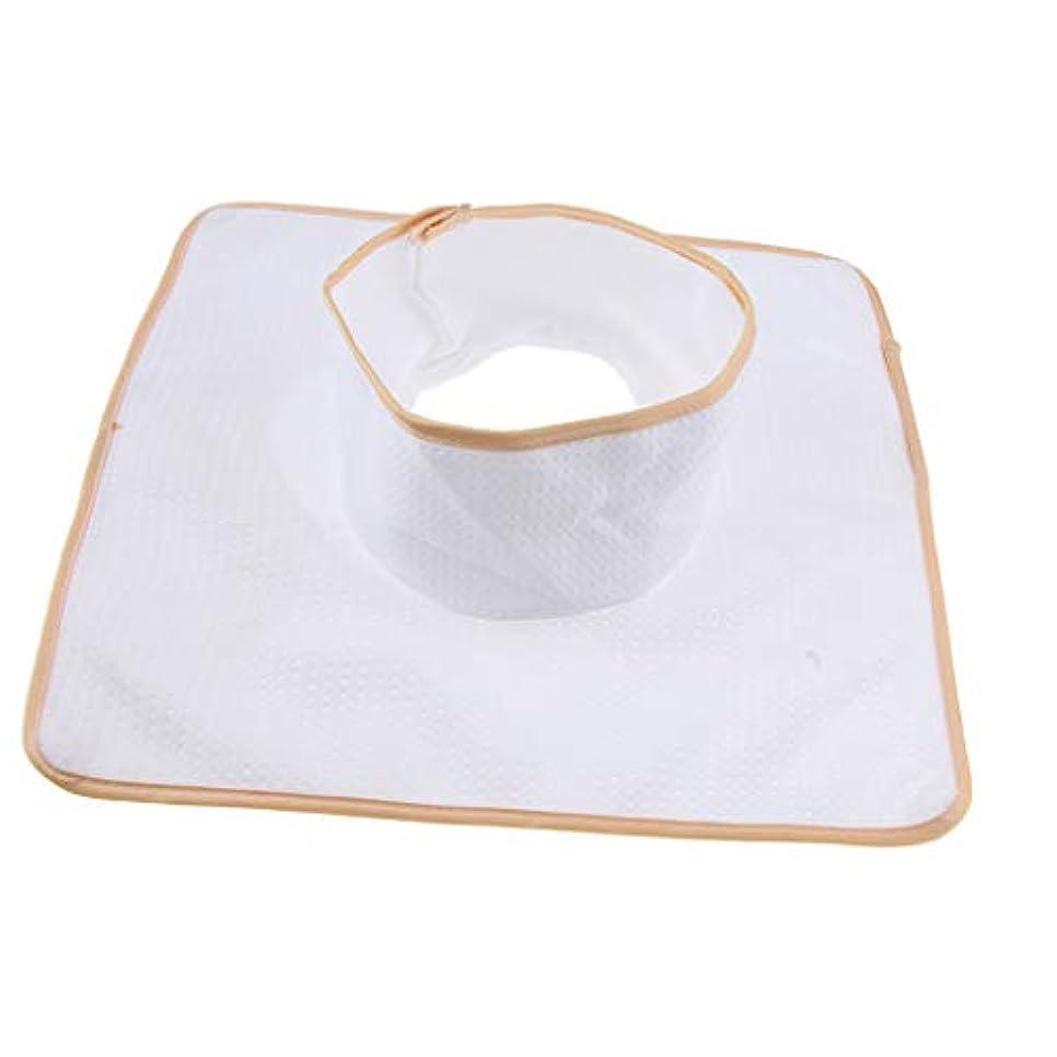 繁栄する悪因子唯一マッサージベッド サロンテーブル シート パッド 頭の穴 洗濯可能 約35×35cm 全3色 - 白