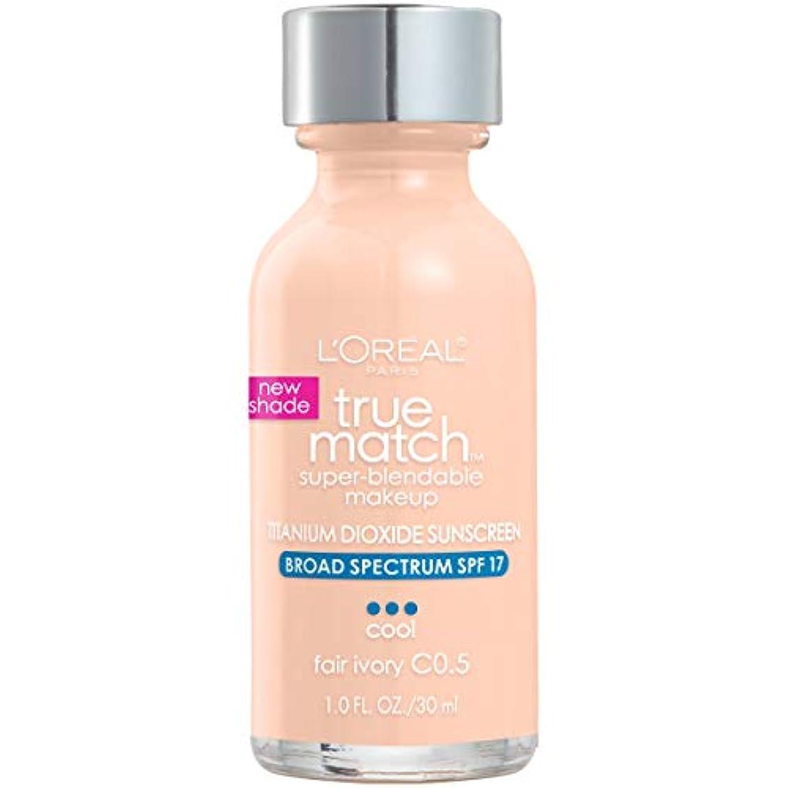 応用擬人腐ったL'Oréal True Match Super-Blendable Foundation Makeup (FAIR IVORY)