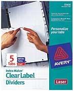 Index Maker Clear Label Unpunched Divider, 8-Tab, Letter, White, 5 Sets (並行輸入品)