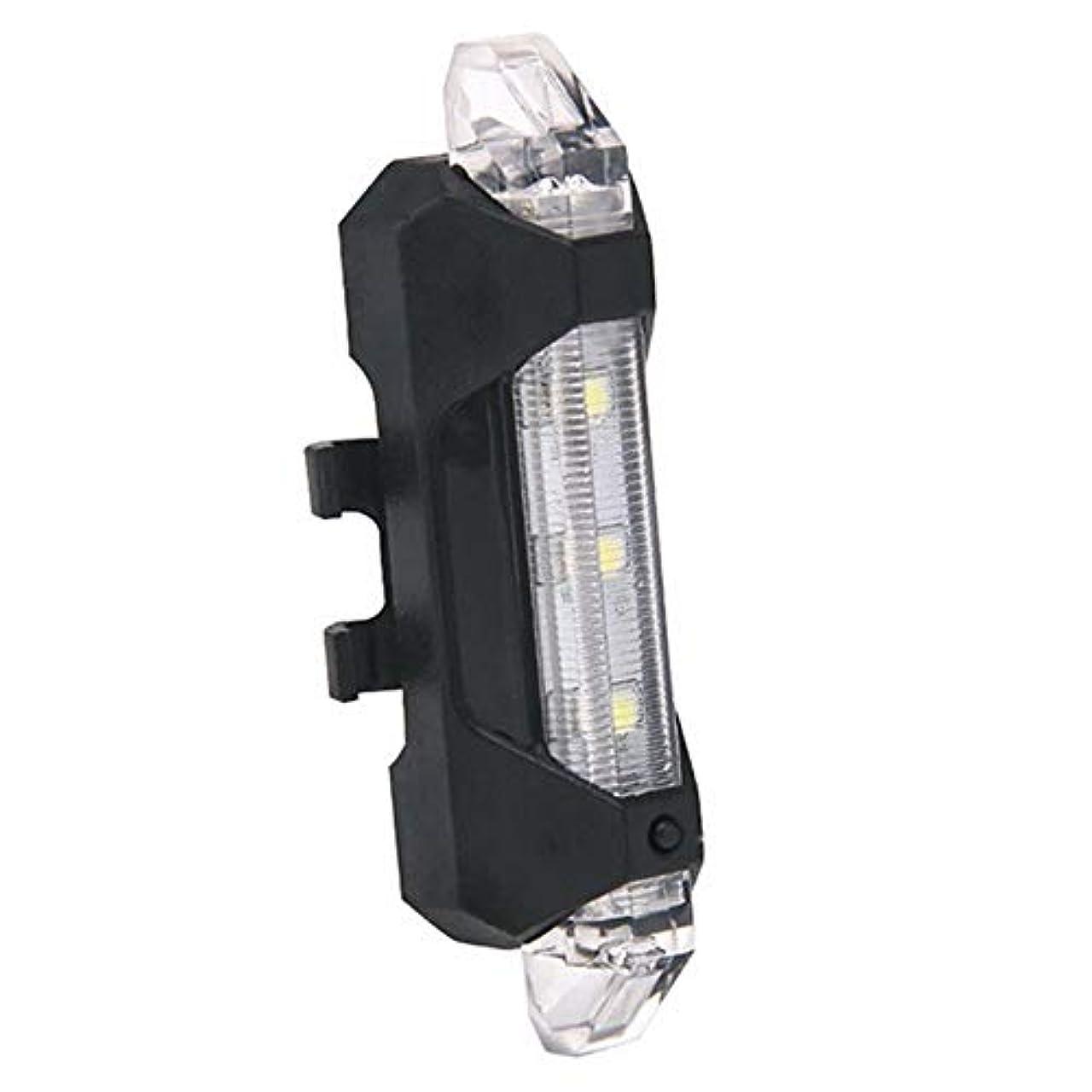 仮定する恐れる支払う充電式自転車ライト USB充電式自転車リアライト4つのライトモードを備えた強力なLED自転車テールライト安全サイクリング用懐中電灯ヘルメットマウンテンバイク (Color : White)