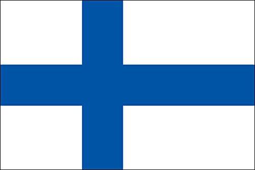 世界の国旗 フィンランド 国旗 手旗サイズ [ 50×75cm 高級テトロン製 ]