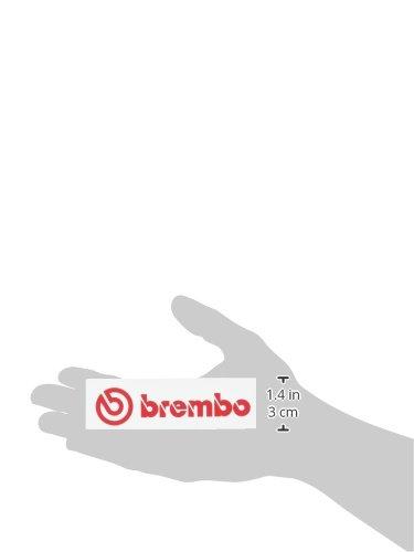 brembo(ブレンボ) ステッカー ダイカットタイプ(小) 赤文字 26x105mm B2990005