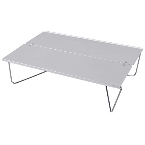 MICOE キャンプテーブル ミニテーブル フィールドホッパー ソロキャンプに最適 アウトドア用 アルミ ロールテーブル 折りたたみ ポップアップソロテーブル 収納袋が付き