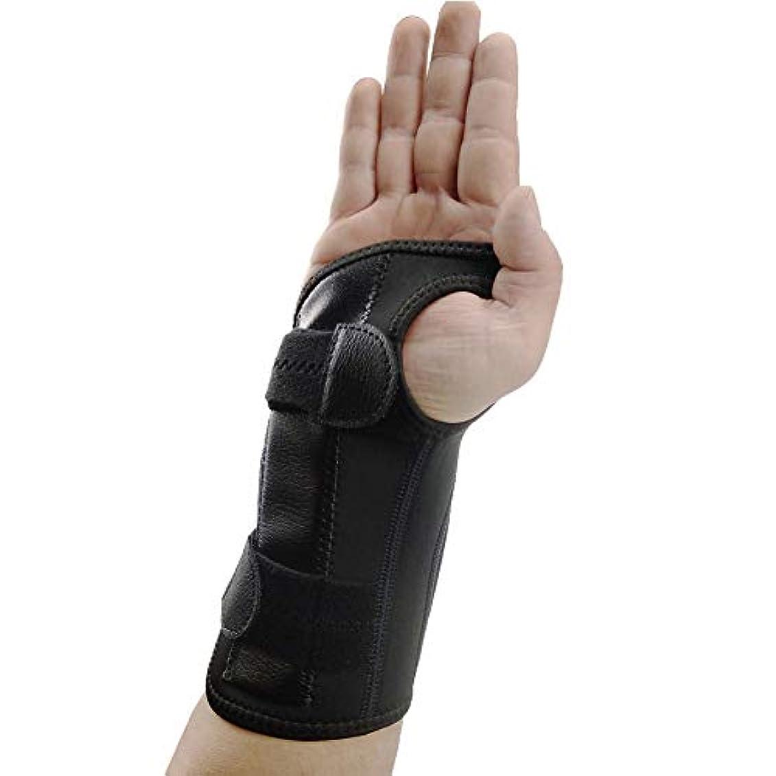 テキスト再現するシュート腱炎、関節炎、捻挫&破壊前腕サポートキャストのための手首の親指スプリント、スタビライザーのための親指のスプリントと手首ブレース