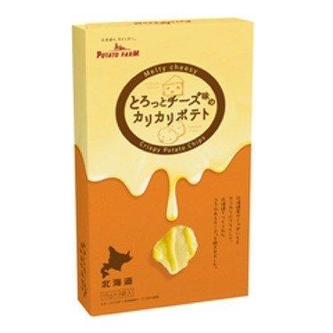 北海道限定 とろっとチーズ味のカリカリポテト ポテトファーム Melty cheesy Crispy Potato Chips 15g × 3袋入 1箱