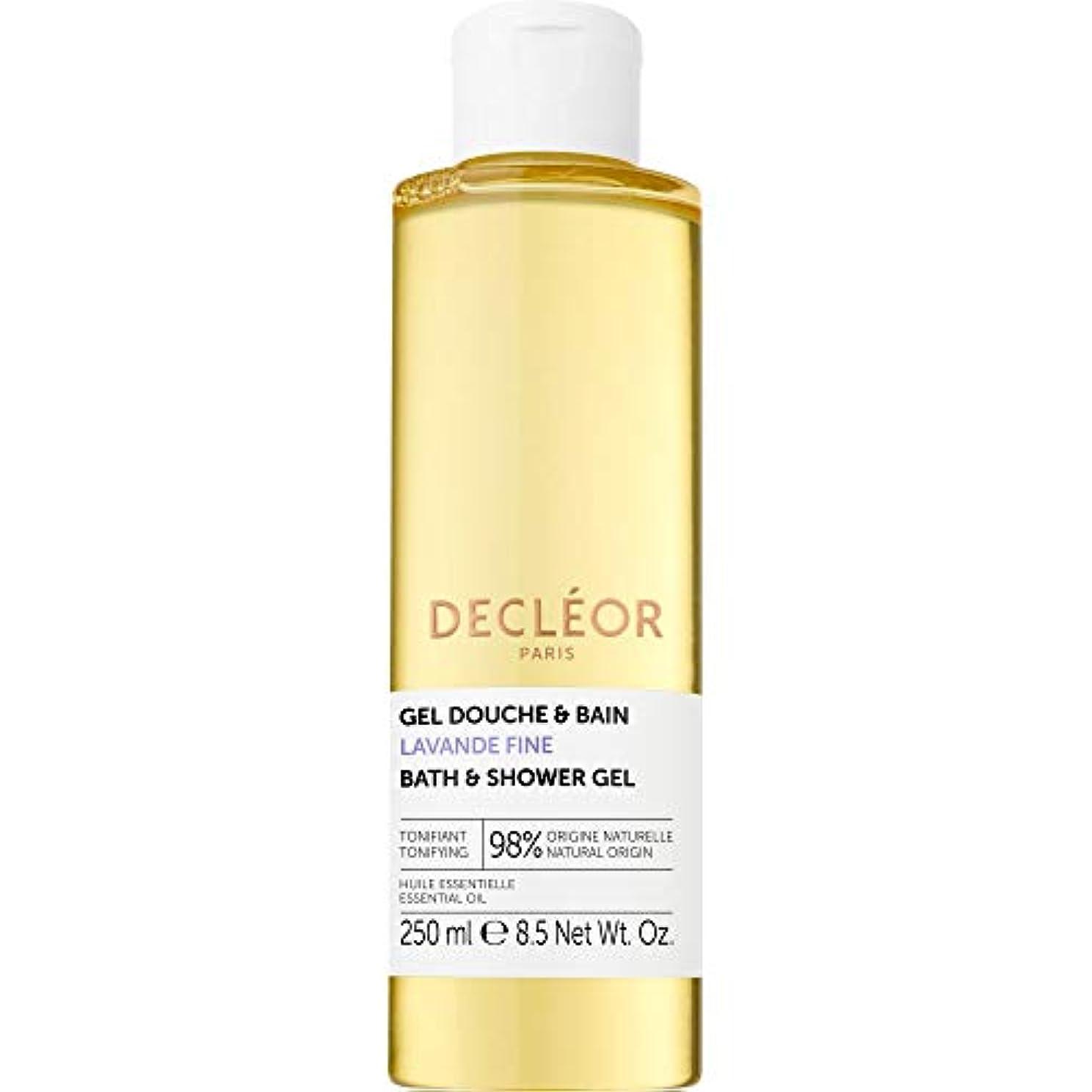 左助けになるきらきら[Decl?or ] デクレオールラバンデ細かいバス&シャワージェル250ミリリットル - Decleor Lavande Fine Bath & Shower Gel 250ml [並行輸入品]
