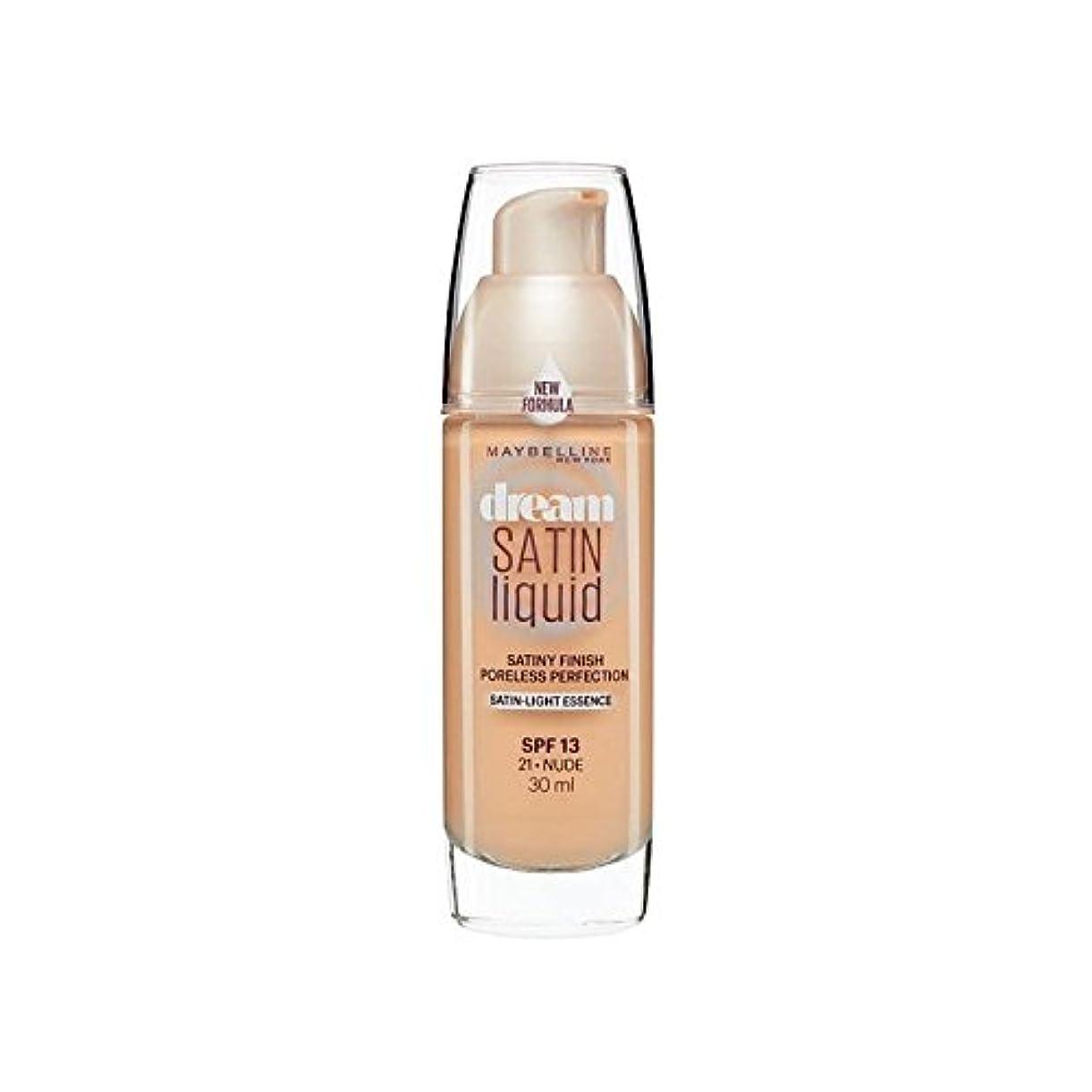 嫌悪レーザメニューMaybelline Dream Satin Liquid Foundation 21 Nude 30ml - メイベリン夢サテンリキッドファンデーション21ヌード30ミリリットル [並行輸入品]