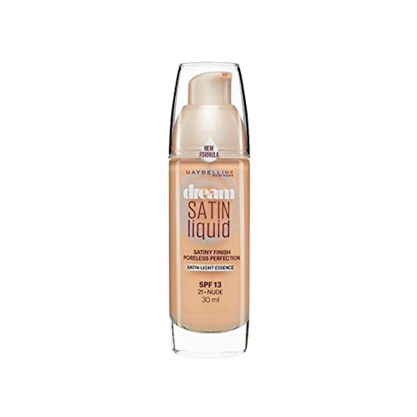 海軍細断一時的Maybelline Dream Satin Liquid Foundation 21 Nude 30ml (Pack of 6) - メイベリン夢サテンリキッドファンデーション21ヌード30ミリリットル x6 [並行輸入品]