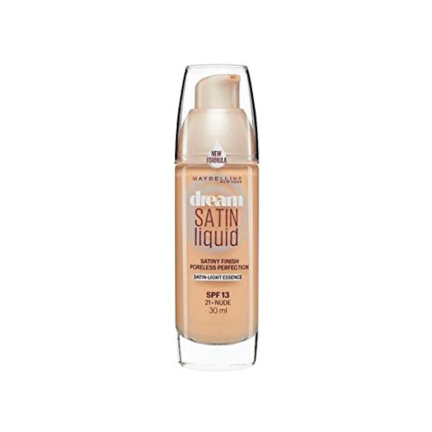 控えめな肌一見Maybelline Dream Satin Liquid Foundation 21 Nude 30ml (Pack of 6) - メイベリン夢サテンリキッドファンデーション21ヌード30ミリリットル x6 [並行輸入品]