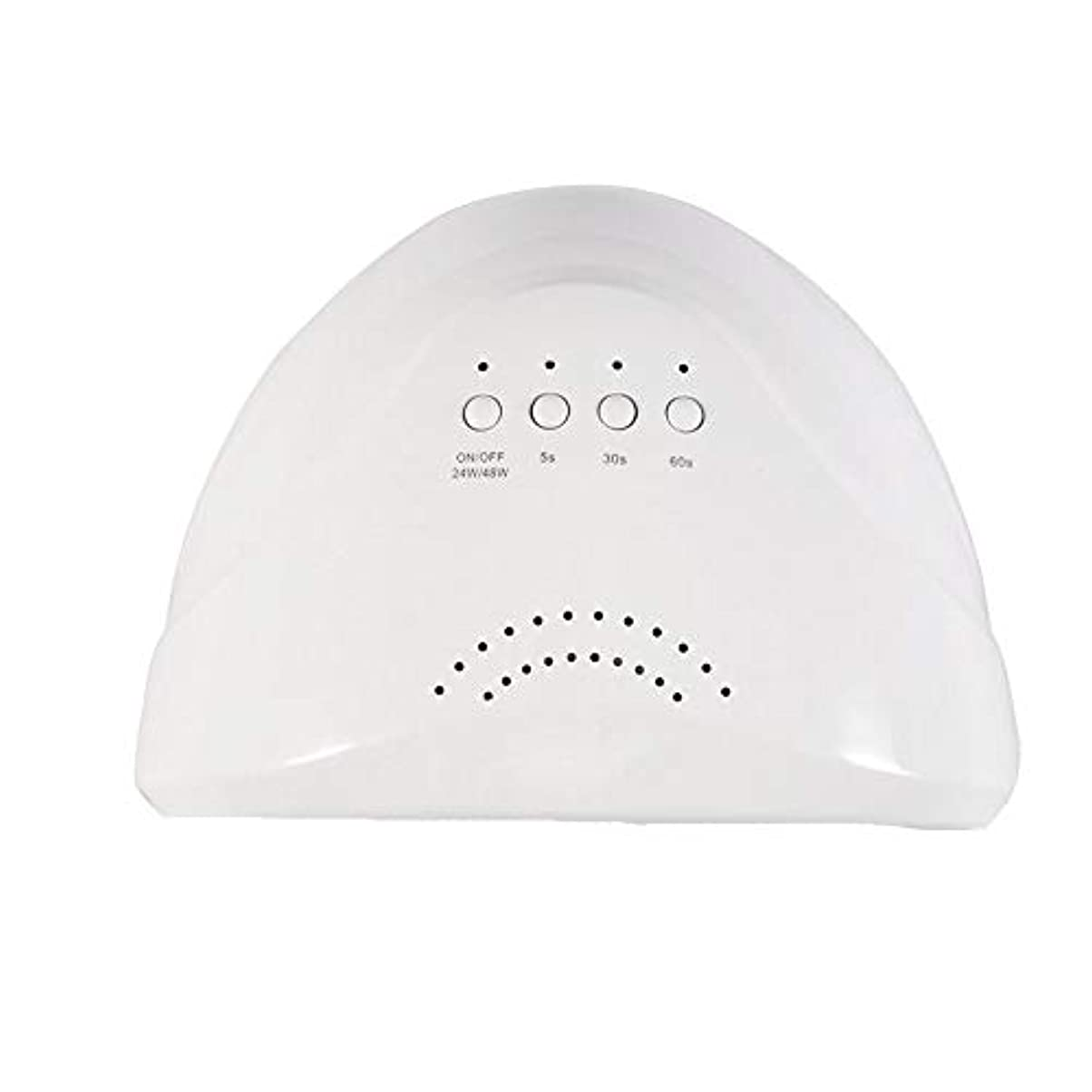 類推オアシスすごいYESONEEP ネイルランプドライヤー太陽光療法機UV Led光線療法ランプ48ワット誘導ネイルランプライトマニキュアツール (Size : 48W)