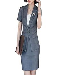ストライプ OL レディース フォマール パンツスーツ スーツ スカートスーツ 半袖 通勤 事務服 就活 リクルートスーツ面接 ビジネス 夏秋 薄い ブラック レッド 縦縞