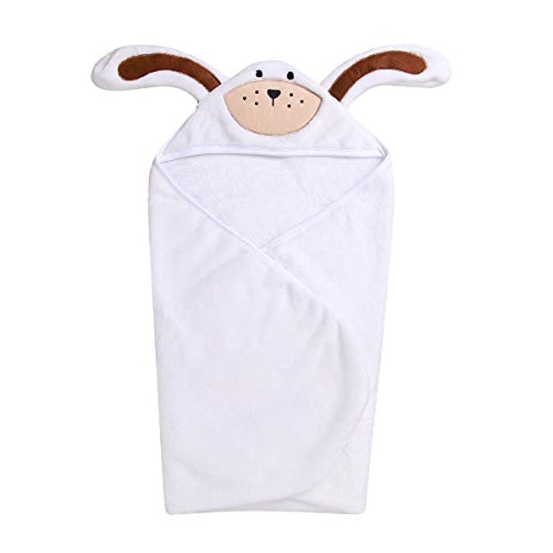 マージンナプキン確実着ぐるみ ベビーケット動物のパターン ベビー布団 パジャマ 赤ちゃん 男の子 女の子 コスチューム 暖かい 出産祝い 0-3ヶ月 (ホワイト, 0-3ヶ月)